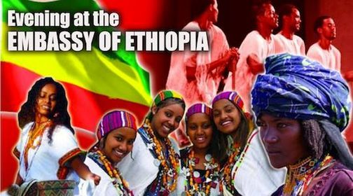 Evening at the Embassy of Ethiopia