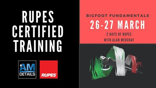 Rupes BigFoot Fundamentals 2 Day Course - March 2020