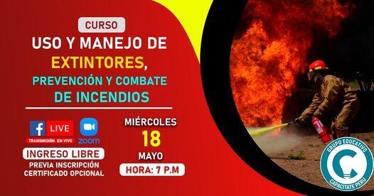 Curso Gratuito: Lucha Contra Incendios, Prevención y Combate, 30 May | Event in Lince | AllEvents.in