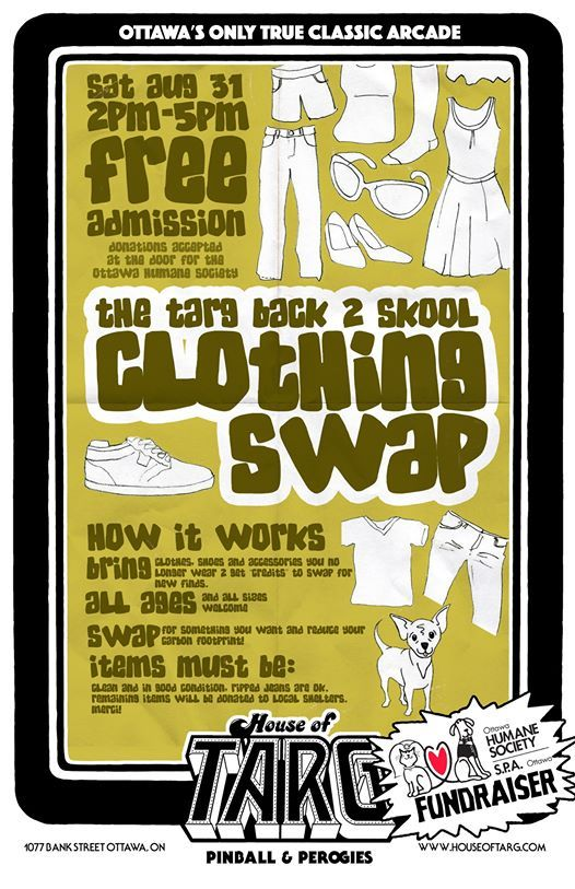 TARG Community Clothing SWAP #4: Back 2 Skool Edition at