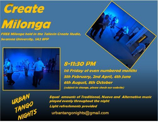 Create Milonga: Free Milonga in Swansea (Online), 6 August   Event in Swansea   AllEvents.in