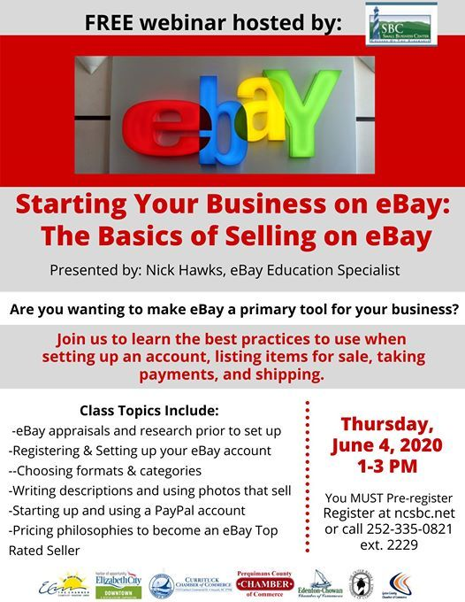 Starting Your Business On Ebay The Basics Of Selling On Ebay At Coa Small Business Center Elizabeth City