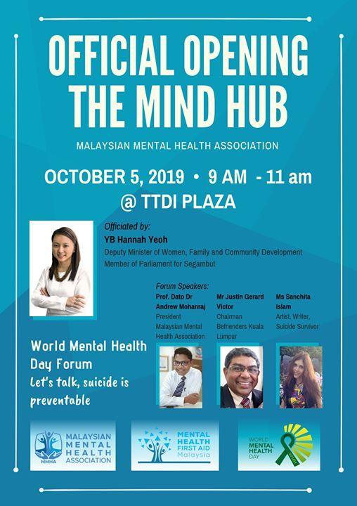 Grand Opening Of The Mind Hub At Malaysian Mental Health Association Kuala Lumpur