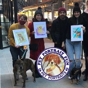 Sip and Paint a Pet Portrait Fun- Barking Dog New York