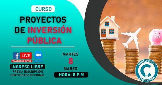 Curso gratuito: Proyectos de Inversión pública, 10 January | Online Event | AllEvents.in