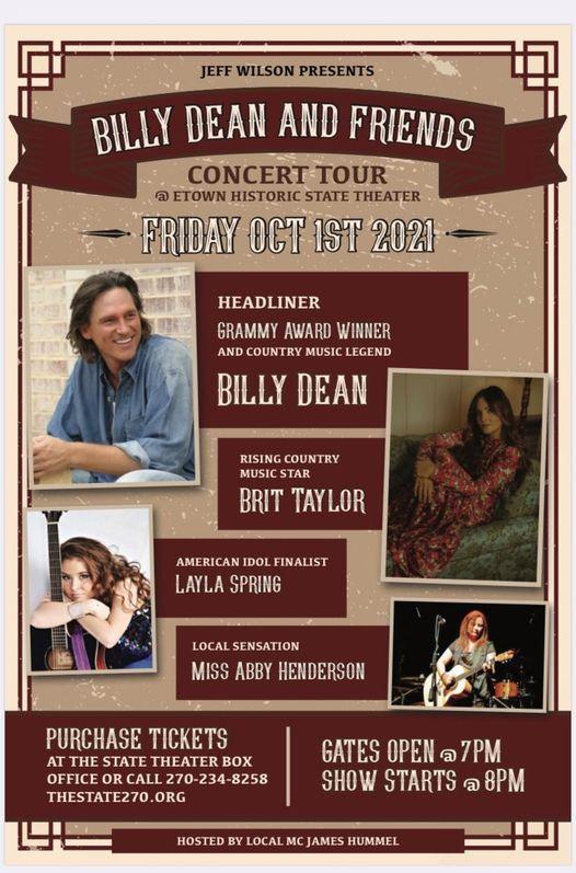 Billy Dean & Friends Concert Tour, 1 October | Event in Elizabethtown | AllEvents.in