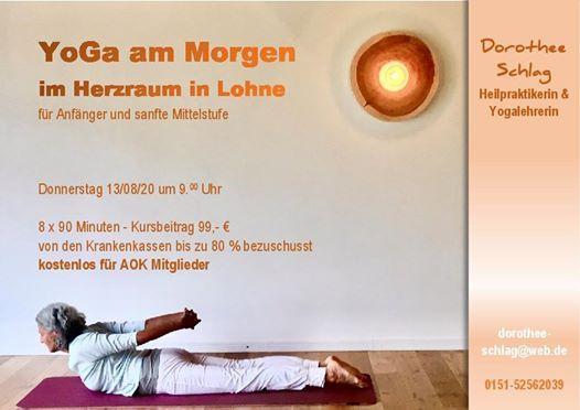 Yoga Kompakt Am Morgen Kostel F Aok Mitglieder Herzraum Lohne June 11 2020 Allevents In
