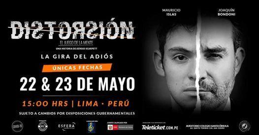 Distorsión - El Juego de la Mente, 22 May | Event in San Isidro | AllEvents.in