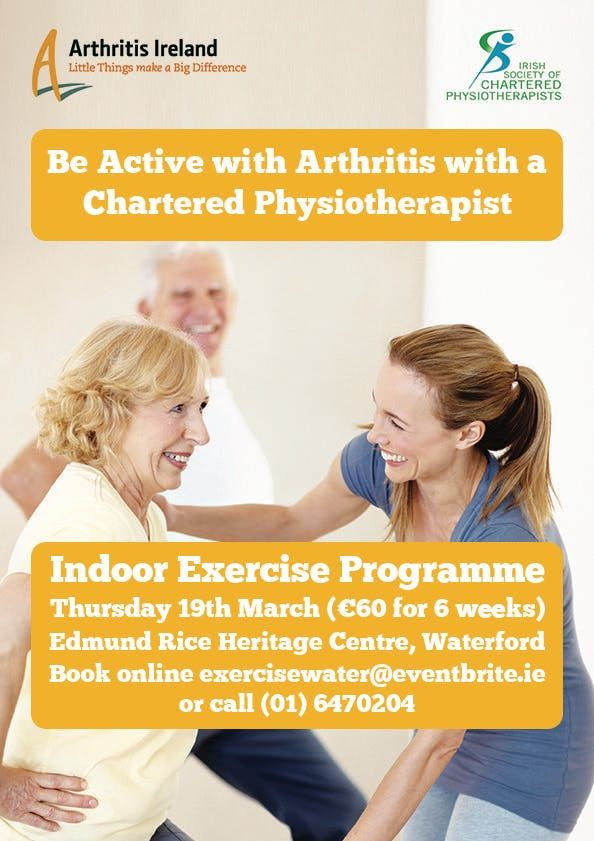 Be active with arthritis Physiotherapist led exercise programme Wicklow Town
