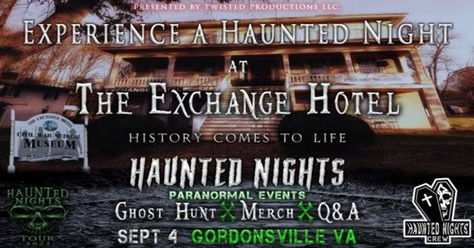 """Haunted Nights Paranormal Events presents """"A Night at The  Exchange Hotel"""", 4 September   AllEvents.in"""