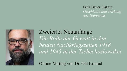 Online-Vortrag von Dr. Ota Konrád: Zweierlei Neuanfänge | Online Event | AllEvents.in