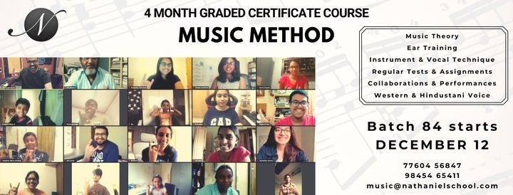 Music Method ONLINE - 4 month course (Vocals/Instruments + Theory + Ear Training), 12 December | Online Event