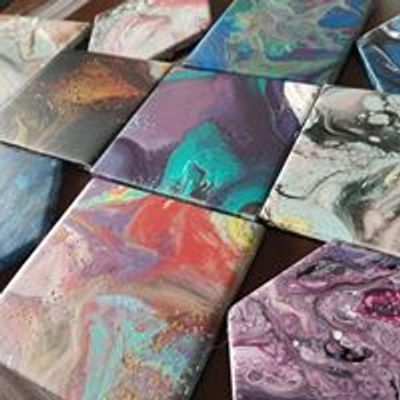 Brockville Library-Acrylic Pour Coasters | Brockville