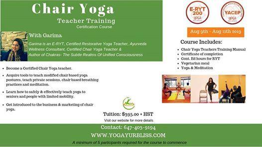 Chair Yoga Certification at Yogayur Bliss Arogya Health & Divinity
