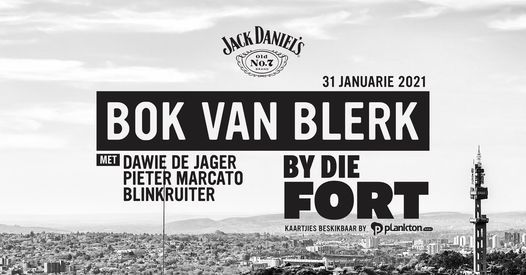 Jack Daniel's bied aan Bok van Blerk By Die Fort, 31 January   Event in Pretoria   AllEvents.in