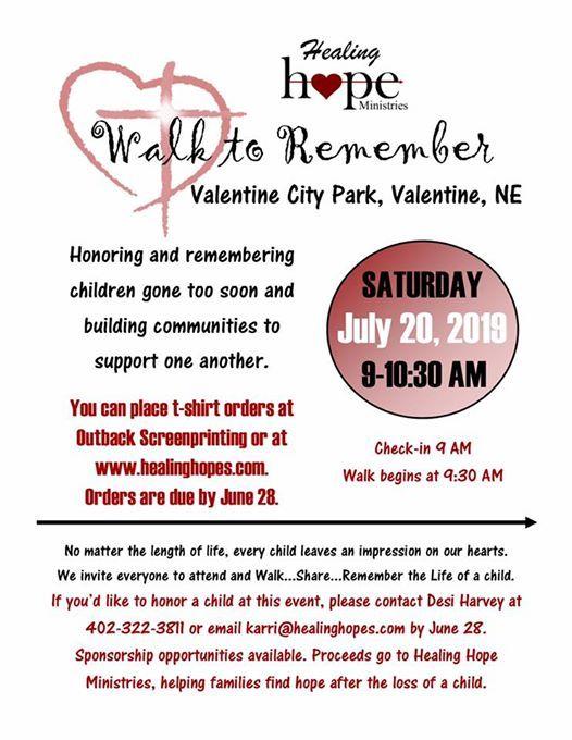 Walk to Remember Valentine NE Area