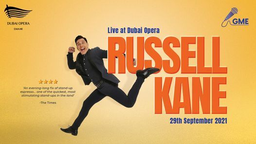 Russell Kane LIVE at Dubai Opera, 29 September   Event in Dubai   AllEvents.in