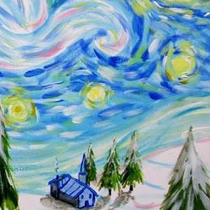 Paint Christmas Starry Night Salford