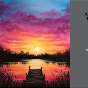 FREE YouTube Live Paint Night Dock at Sunset