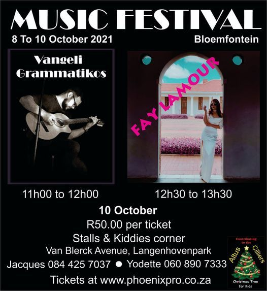 Music Festival Sunday vibes with Fay Lamour, 10 October   Event in Bloemfontein   AllEvents.in