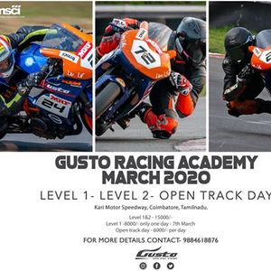 Gusto Racing Academy- March 2020 Chapter
