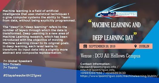 Machine Learning & Deep Learning Day