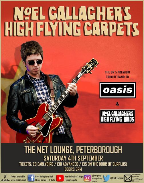 OASIS & Noel Gallagher High Flying Birds Tribute Show Peterborough, 4 September | Event in Peterborough