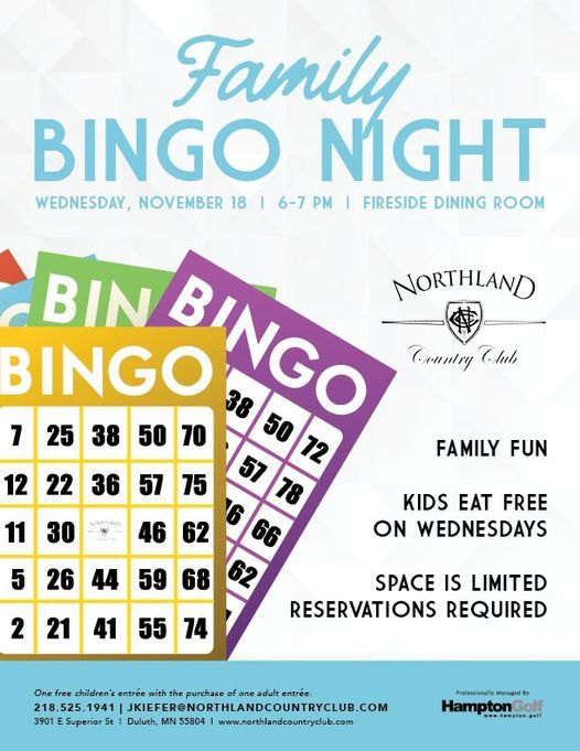 Family Bingo Night, 18 November | Event in Duluth | AllEvents.in