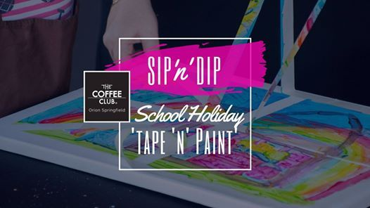 Orion Springfield - School Holiday Art Workshop - Tape & Paint