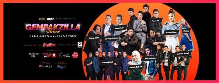Gempakzilla Festival - Muzik Hebat 2019 Pantai Timur