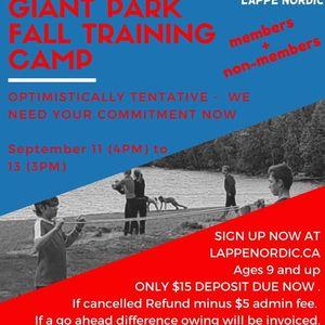 Fall Training Camp