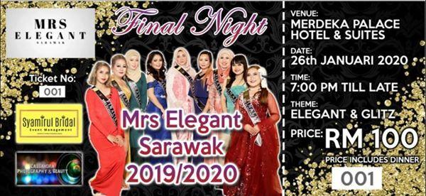 Grand Final Mrs Elegant Sarawak 20192020