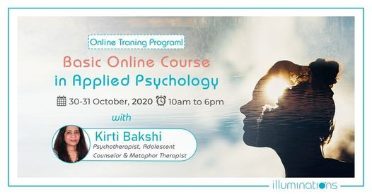 Basic Online Course in Applied Psychology, 30 October   Event in Dubai   AllEvents.in