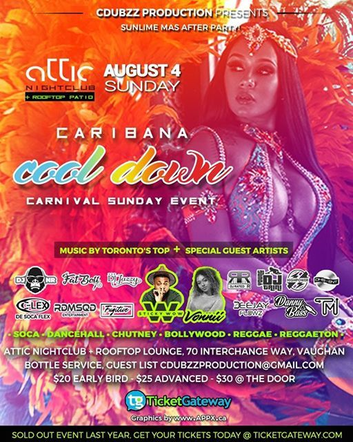 Caribana COOL DOWN 2019 at ATTIC NIGHTCLUB AND ROOFTOP PATIO, 70