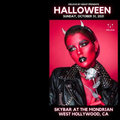 Halloween at Skybar at the Mondrian