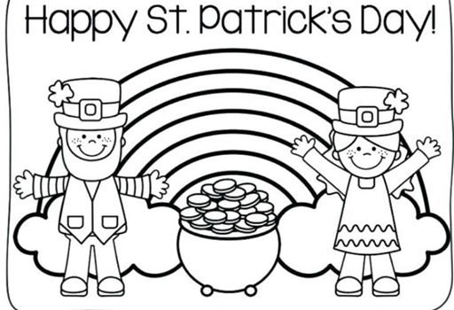 St. Patricks Day Coloring Pages at TeenyTown Playland
