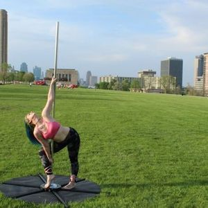 Polga (pole yoga) in the ParkCelebrating the Sunset & Full Moon