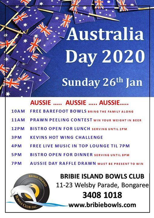 Australia Day 2020 At Bribie Island Bowls Club Bongaree