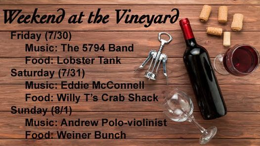 WEEKEND AT THE VINEYARD, 30 July | Event in Brooksville | AllEvents.in