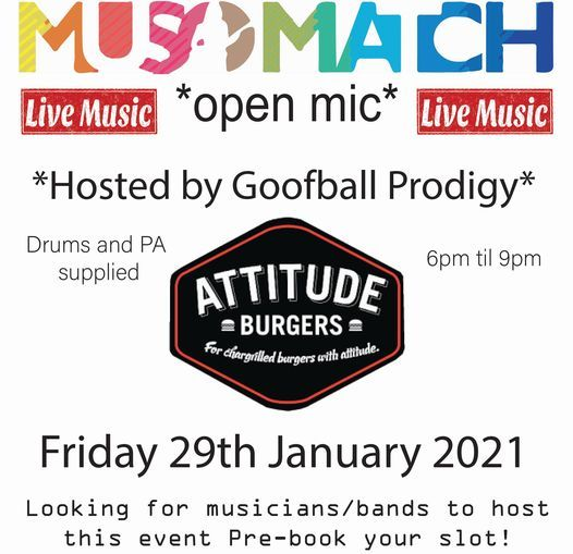 Musomatch Open Mic at Attitude Burgers, 29 January | Event in Coffs Harbour | AllEvents.in