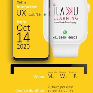 ilakku Learning - Online UX Course Registration