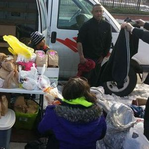 Clothingtoiletries and food donation event for homeless