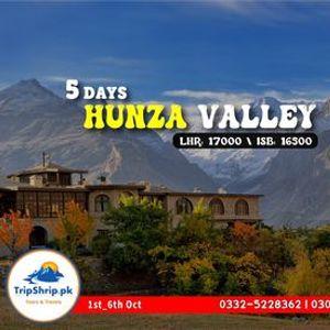 5 Days Trip to Hunza and Khunjrab Pass