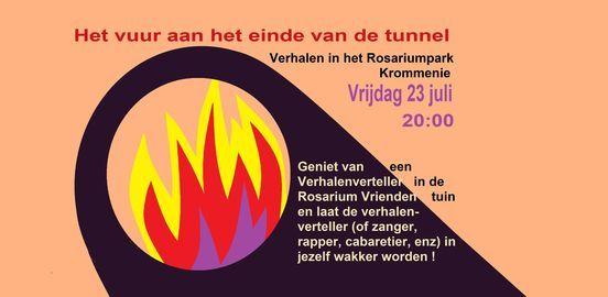 Er is vuur aan het einde van de tunnel. verhalen in het park, Rosariumpark,  1561 TZ Krommenie, Nederland, July 23 2021 | AllEvents.in