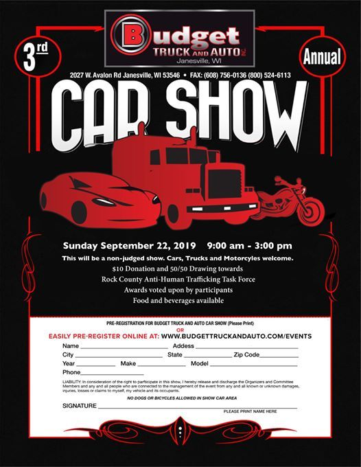 3rd Annual Budget Truck and Auto Car Show | Janesville