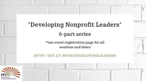 Developing Nonprofit Leaders at Miami Valley Nonprofit
