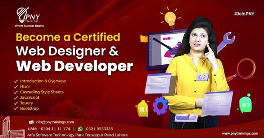 Become a Certified Web Designer and Developer, 20 August | Event in Lahore | AllEvents.in