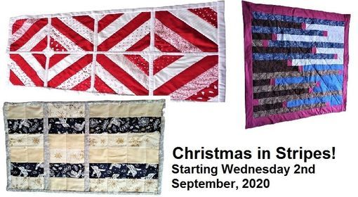 Xmas in Stripes Monthly quilting club with Sue Frecklington