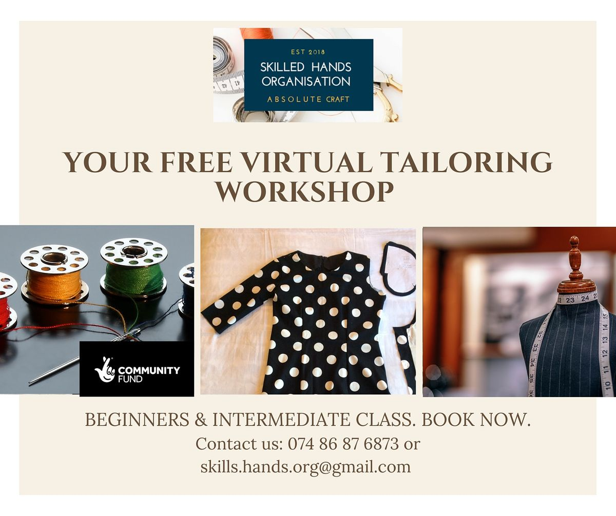 Free Virtual Tailoring workshop | Online Event | AllEvents.in