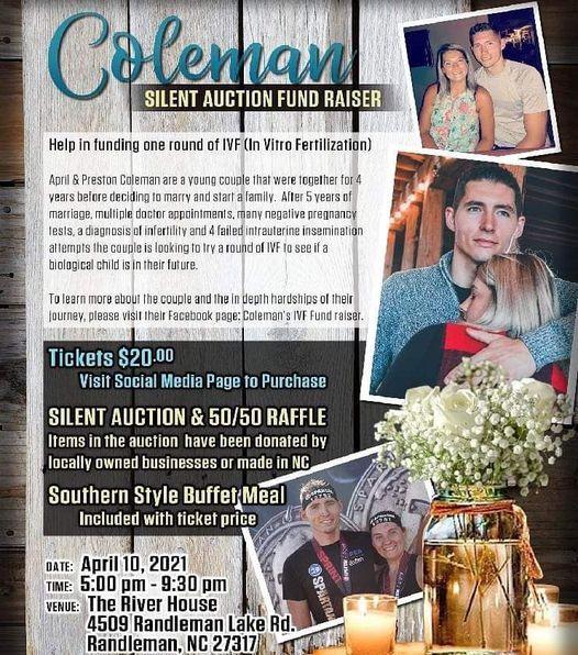 Coleman Silent Auction Fund Raiser, 10 April | Online Event | AllEvents.in